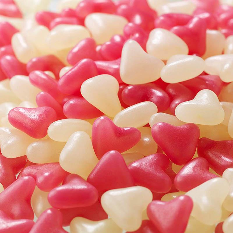 Barratts Pink White Jelly Bean Lovehearts 3kg Bags