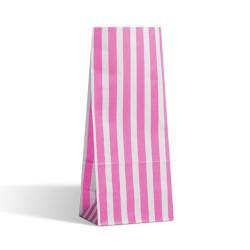 Pink Stripe Pick n Mix Paper Bags