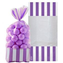 New Purple Stripe Cello Sweet Bags - 27cm