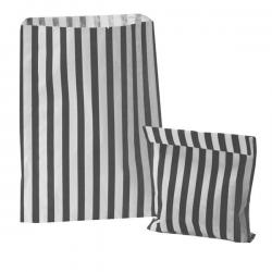 Black Candy Stripe Paper Bags