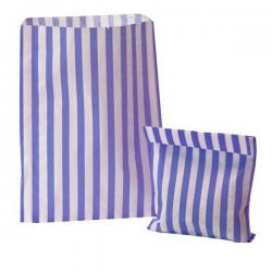 Purple Candy Stripe Paper Bags