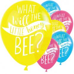 "What Will It Bee Balloons - 11"" Latex (6pk)"