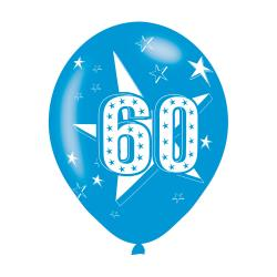 Age 60 Blue Latex Balloons (6pk)