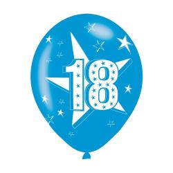 Age 18 Blue Latex Balloons (6pk)