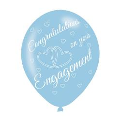Engagement Assorted Colours Latex Balloons (6pk)