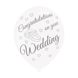 On your Wedding Latex Balloons (6pk)