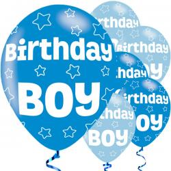 Birthday Boy Balloons - 11'' Latex (6pk)