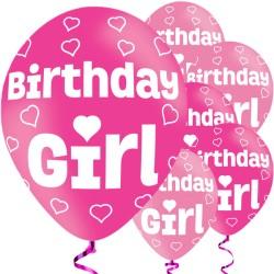 Birthday Girl Balloons - 11'' Latex (6pk)