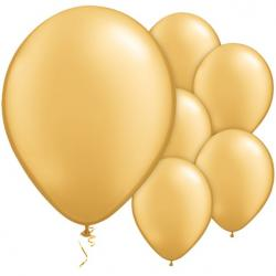 "Gold Metallic Balloons - 11"" Latex (100pk)"