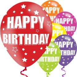 "Happy Birthday Balloons - 11"" Latex (6pk)"