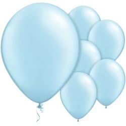 "Pale Blue Balloons - 11"" Latex (100pk)"
