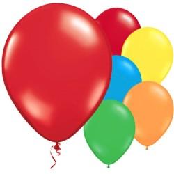 "Multi-coloured Balloons - 11"" Metallic Latex (10pk)"