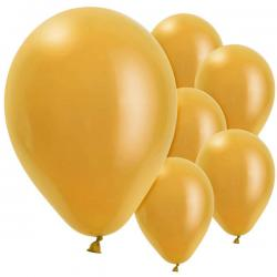 Gold Balloons - 11'' Pearl Latex (10pk)