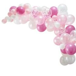 Pink Balloon Arch - 70 Balloons