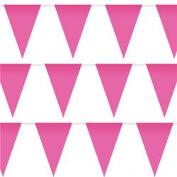 Bright Pink Plastic Bunting - 10m (each)