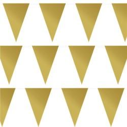 Gold Plastic Bunting - 10m