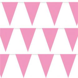 Pink Plastic Bunting - 10m (each)