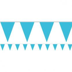 Caribbean Blue Paper Bunting - 4.5m (each)