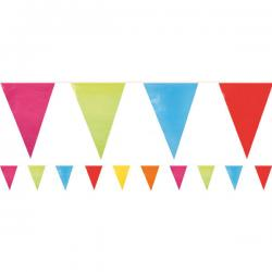 Giant Multi Coloured Plastic Bunting - 10m (each)