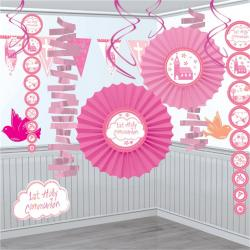 First Holy Communion Pink Decoration Kit