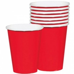 Apple Red Paper Cups - 266ml (8pk)