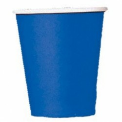 Bright Royal Blue Paper Cups - 266ml (20pk)
