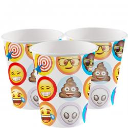 Emoji Cups - 255ml Paper Party Cups (8pk)