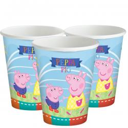 Peppa Pig Cups - 260ml Paper Party Cups (8pk)