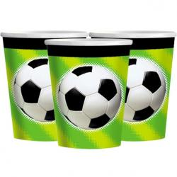 Football Championship Paper Cups 266ml (8pk)