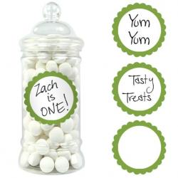 Kiwi Green Candy Buffet Scalloped Labels - 20pk