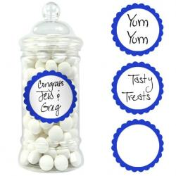 Royal Blue Candy Buffet Scalloped Labels - 20pk