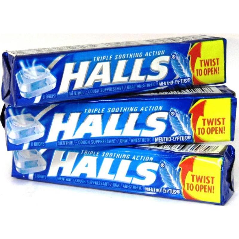 Halls Original Blue Rolls