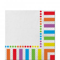 Rainbow Party Luncheon Napkins - 2ply Paper (16pk)