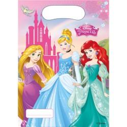 Disney Princess Party Bags - Plastic Loot Bags (6pk)