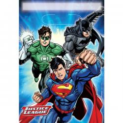 Justice League Party Bags - Plastic Loot Bags (8pk)
