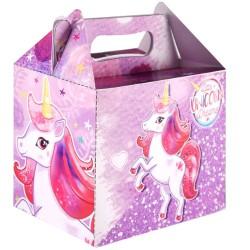 Party Box with Unicorn Design - 14cm