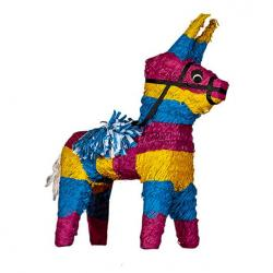 Traditional Mexican Donkey Piñata - 35cm Long