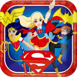 DC Super Hero Girls - 23cm Square Paper Party Plates (8pk)