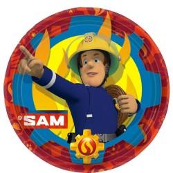 Fireman Sam - 23cm Paper Party Plates (8pk)
