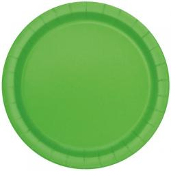 "Lime Green 9"" Paper Party Plates (16pk)"