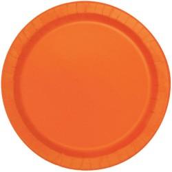"""Pumpkin Orange 9"""" Paper Party Plates (16pk)"""