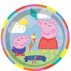 Peppa Pig Plates - 23cm Paper Party Plates (8pk)