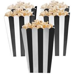 Black Candy Buffet Popcorn Treat Boxes