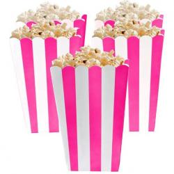 Bright Pink Candy Buffet Popcorn Treat Boxes