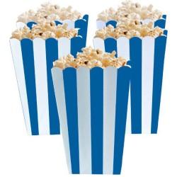 Royal Blue Candy Buffet Popcorn Treat Boxes