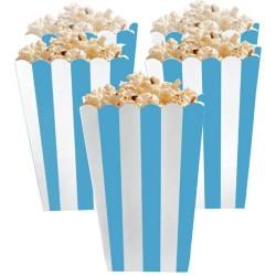 Caribbean Blue Candy Buffet Popcorn Treat Boxes