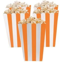 Orange Peel Candy Buffet Popcorn Treat Boxes