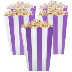 Purple Candy Buffet Popcorn Treat Boxes