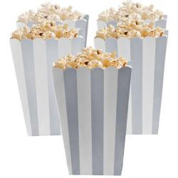 Silver Candy Buffet Popcorn Treat Boxes