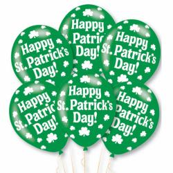 "Happy St. Patrick's Balloons - 11"" Latex (6pk)"